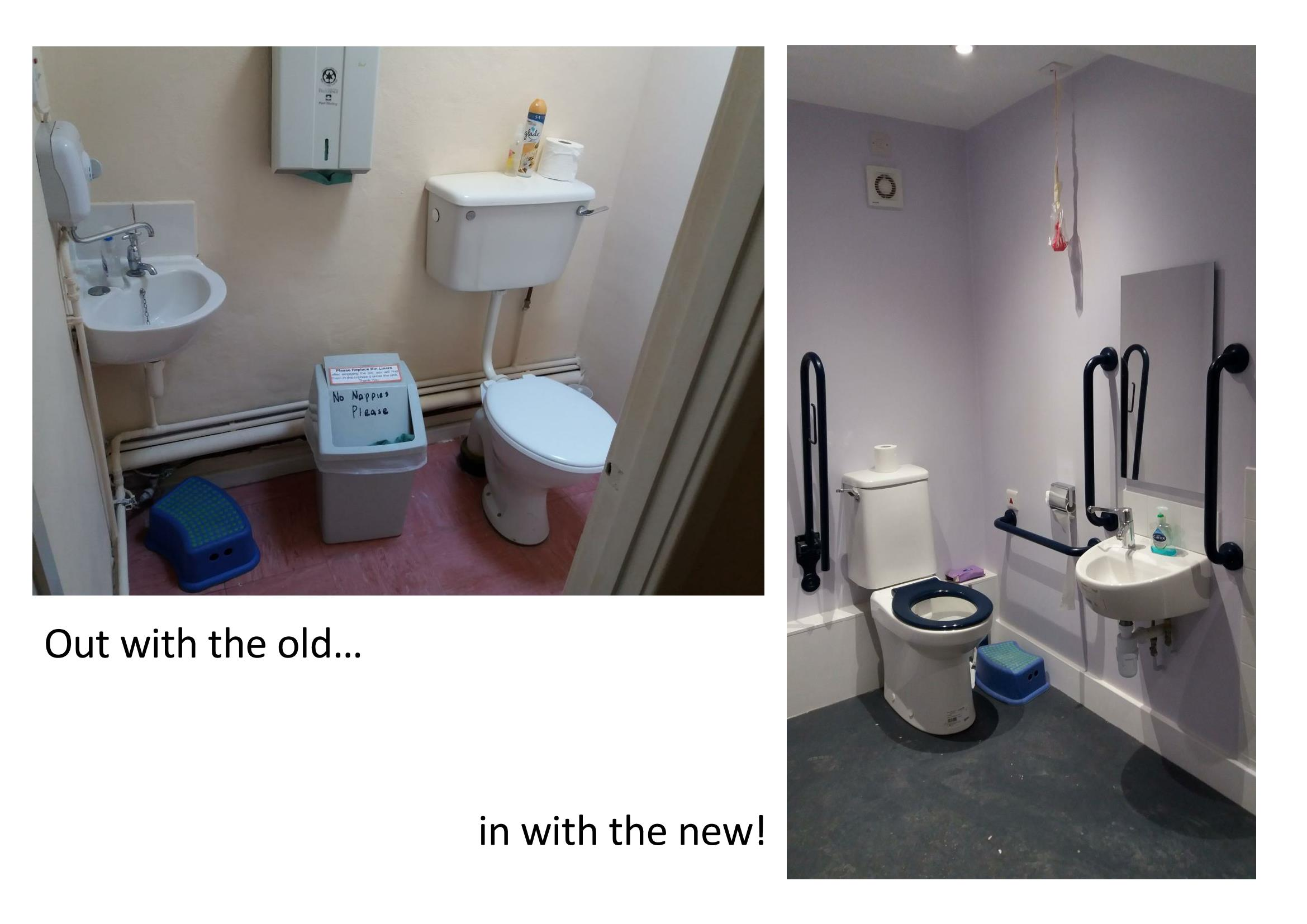 WC before + after